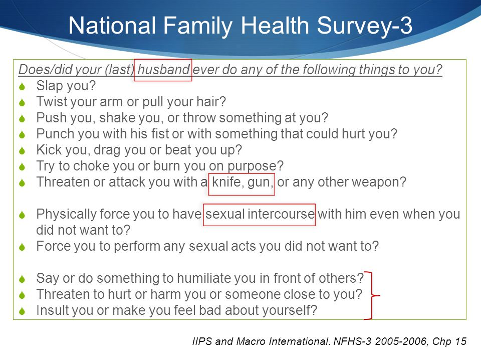 National Family Health Survey-3