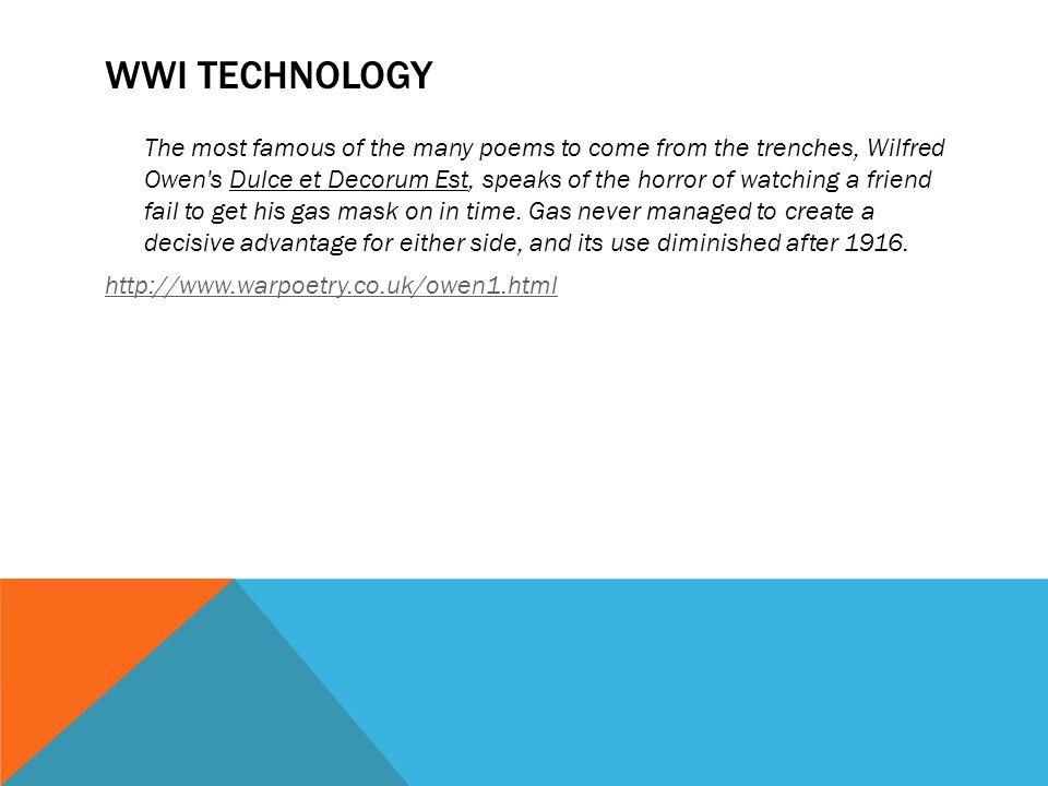 Wwi technology