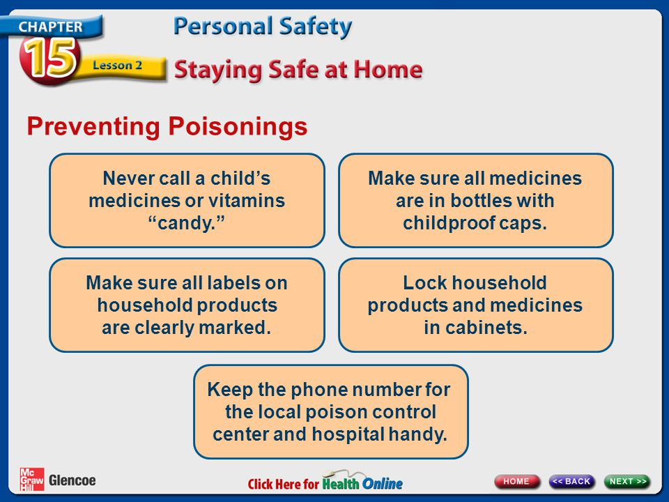 Preventing Poisonings