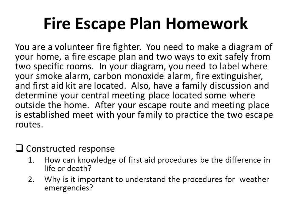 Fire Escape Plan Homework