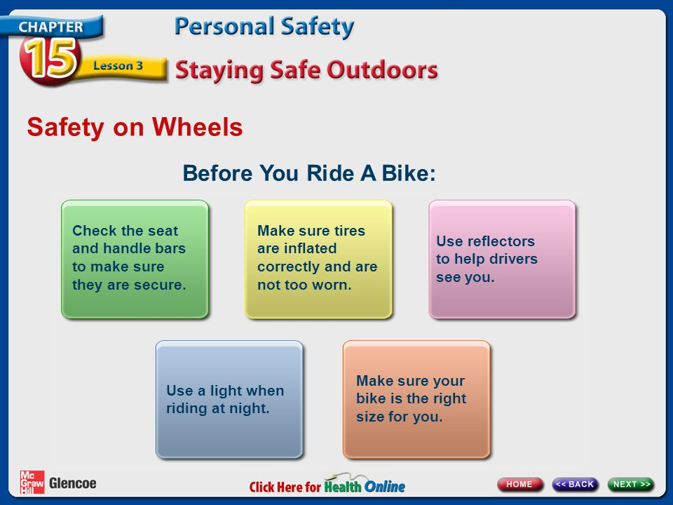 Safety on Wheels Before You Ride A Bike: