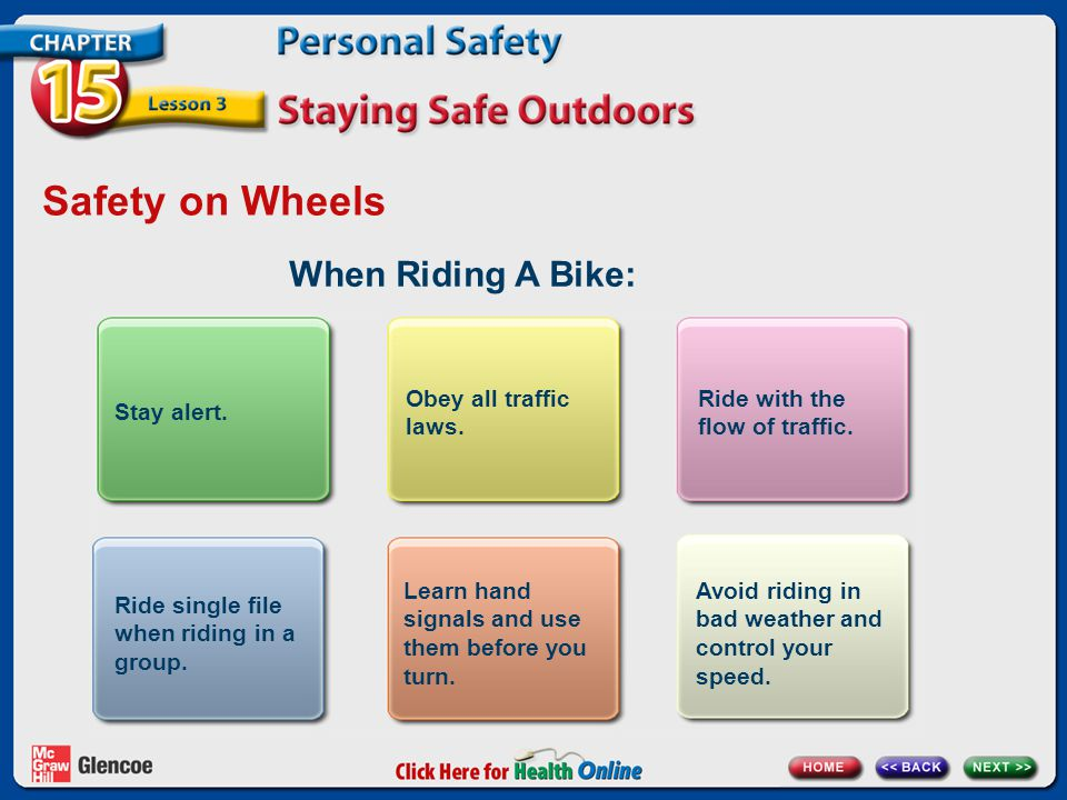 Safety on Wheels When Riding A Bike: Stay alert.