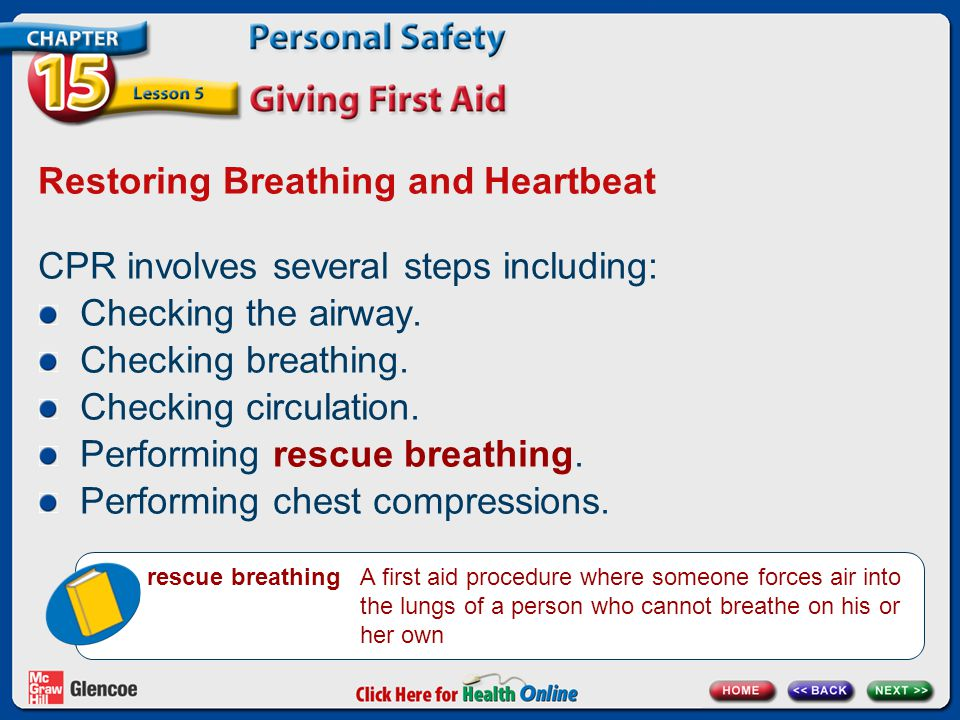 Restoring Breathing and Heartbeat