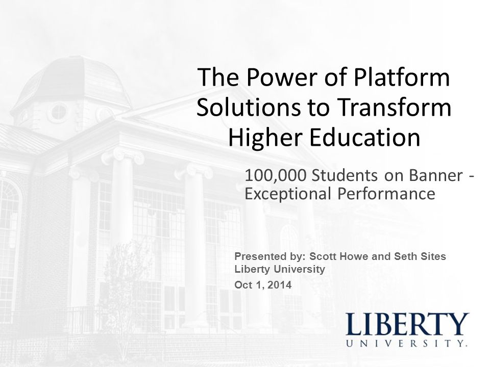 The Power of Platform Solutions to Transform Higher Education