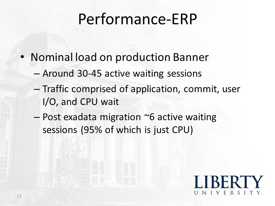 Performance-ERP Nominal load on production Banner