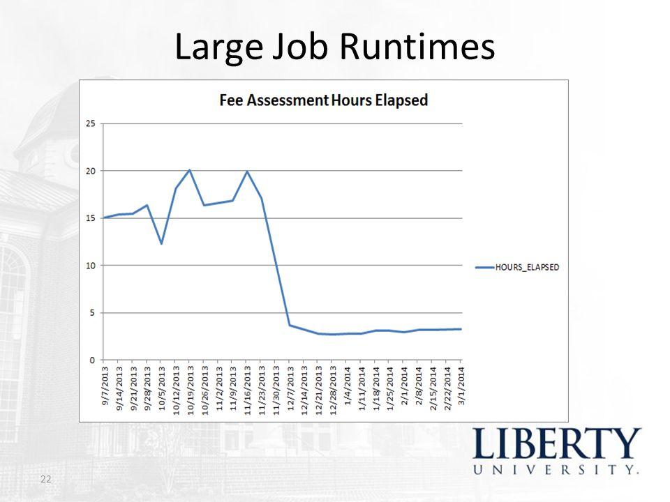Large Job Runtimes