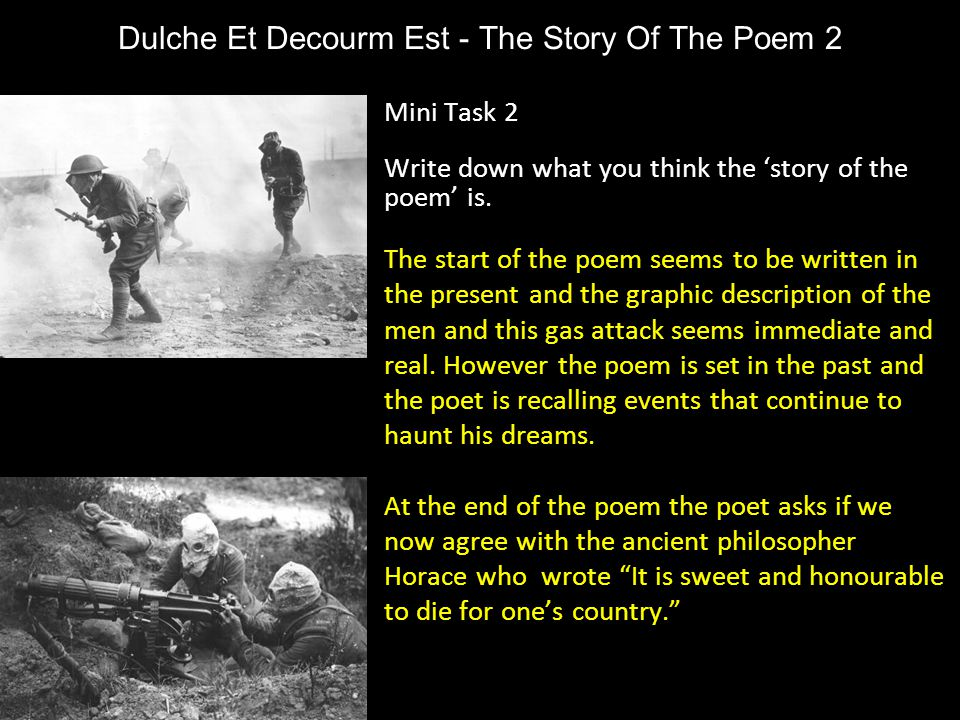 Dulche Et Decourm Est - The Story Of The Poem 2