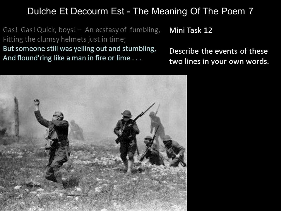 Dulche Et Decourm Est - The Meaning Of The Poem 7