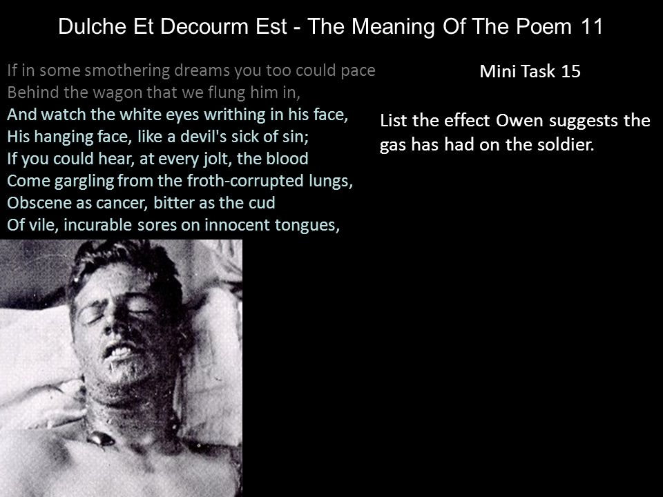 Dulche Et Decourm Est - The Meaning Of The Poem 11