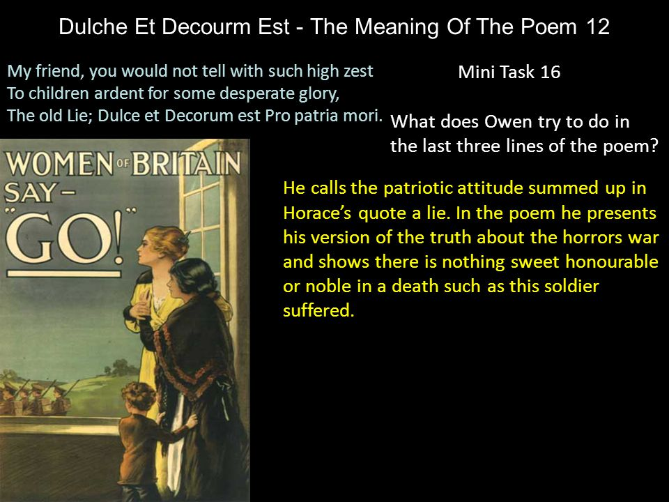 Dulche Et Decourm Est - The Meaning Of The Poem 12