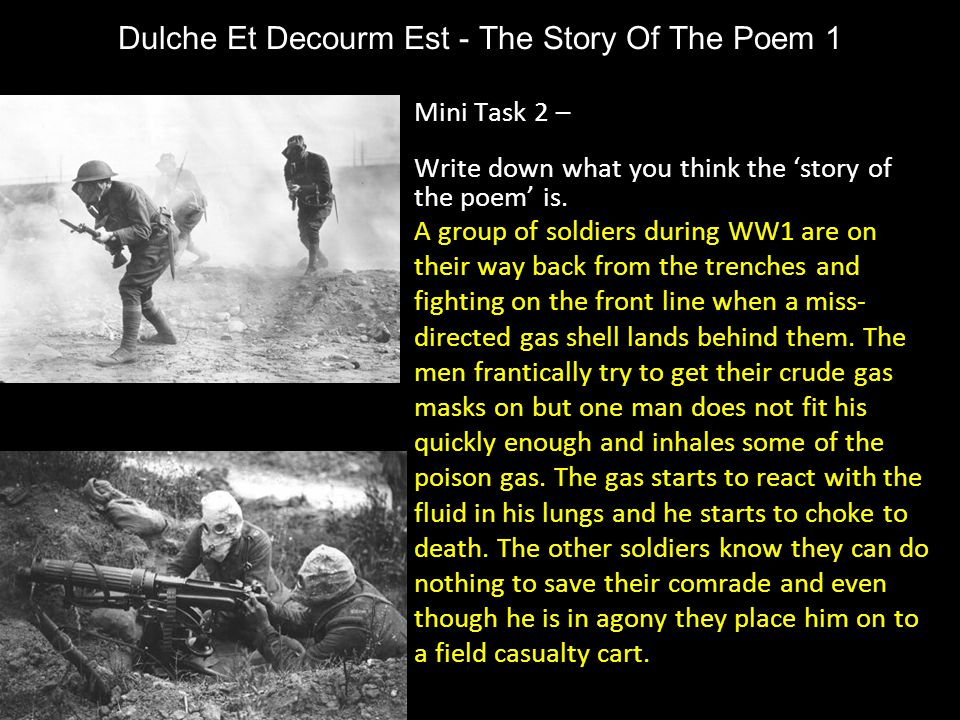 Dulche Et Decourm Est - The Story Of The Poem 1