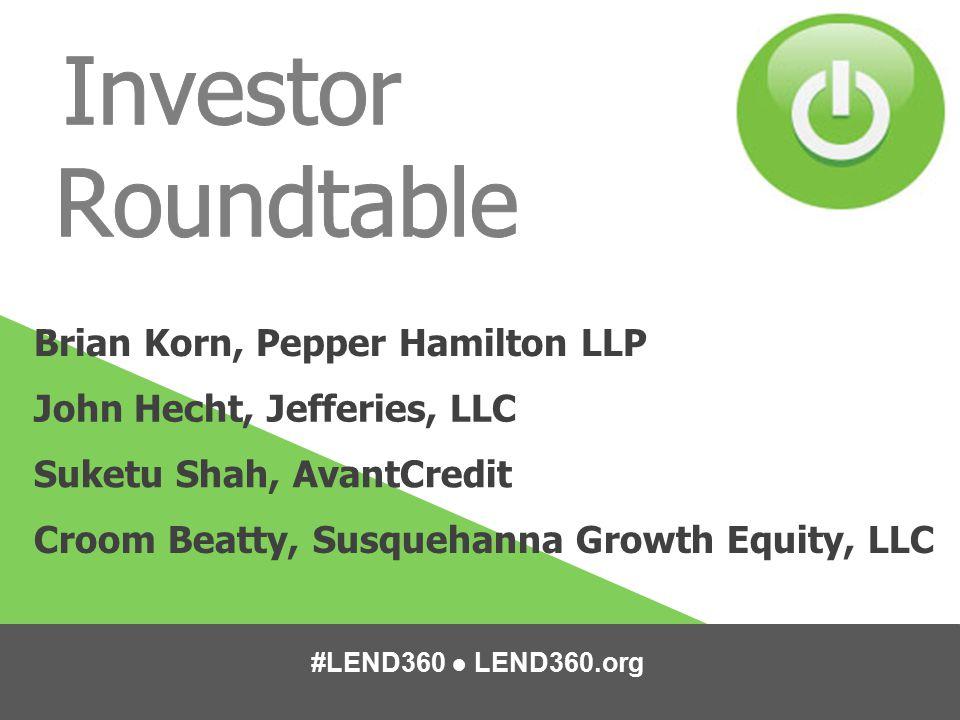 Investor Roundtable Brian Korn, Pepper Hamilton LLP