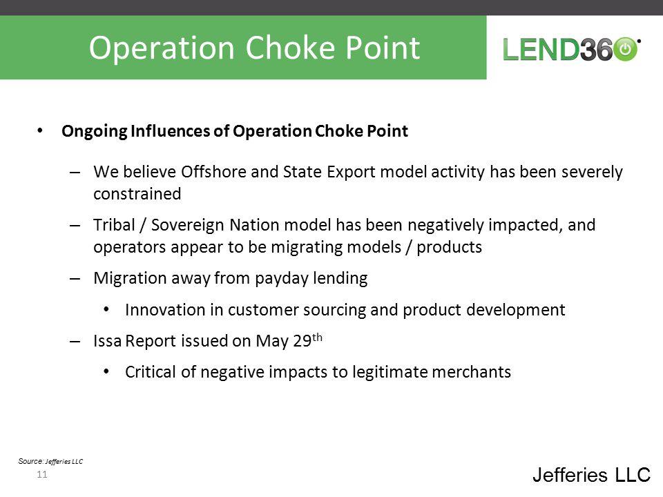 Operation Choke Point Jefferies LLC