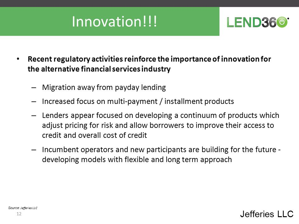 Innovation!!! Jefferies LLC