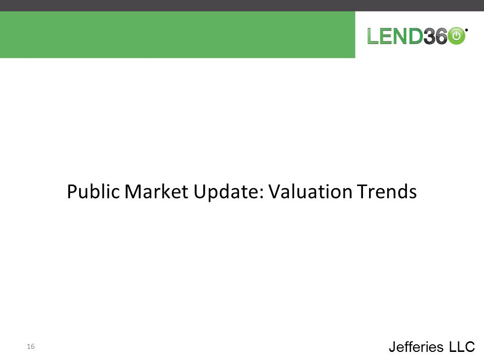 Public Market Update: Valuation Trends