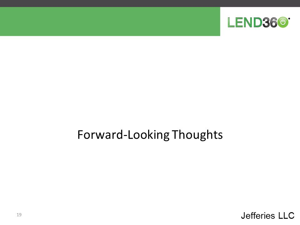 Forward-Looking Thoughts