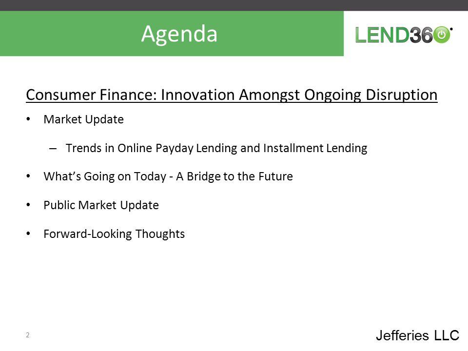 Agenda Consumer Finance: Innovation Amongst Ongoing Disruption