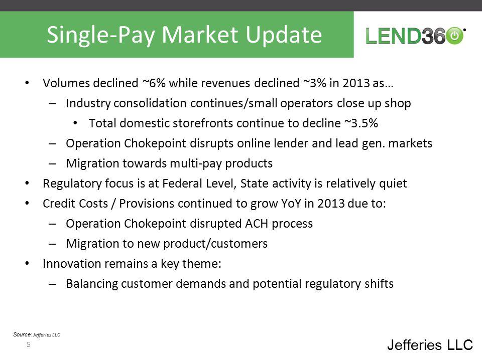 Single-Pay Market Update