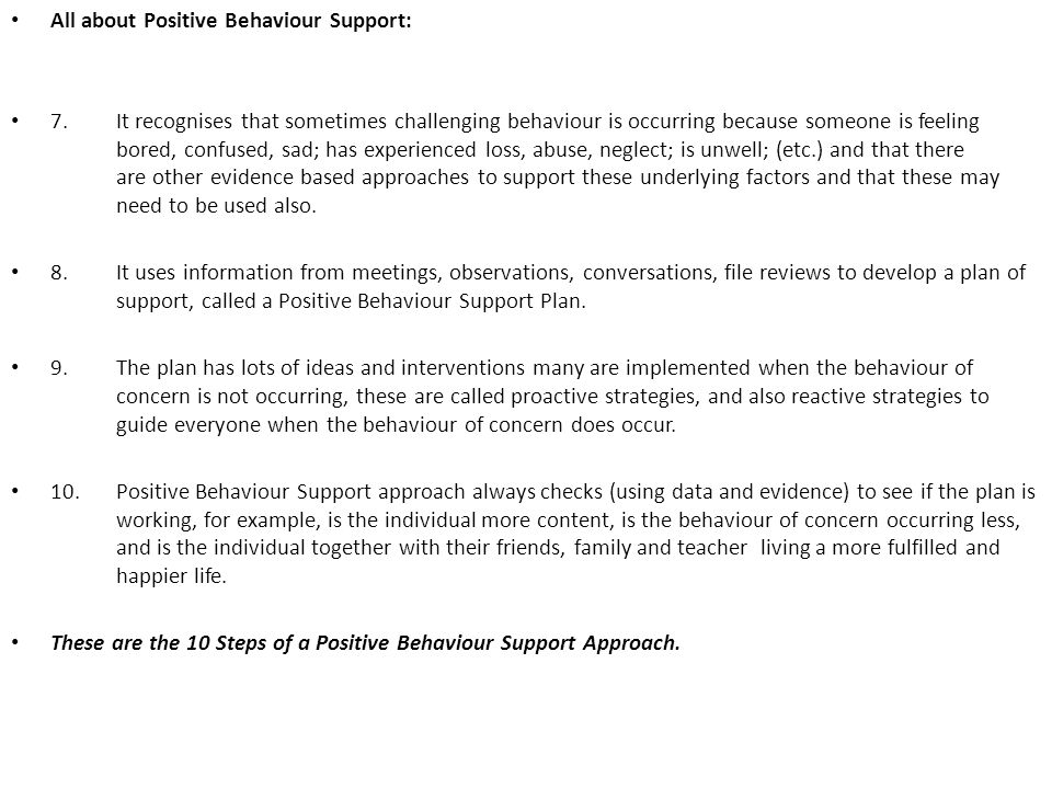 All about Positive Behaviour Support: