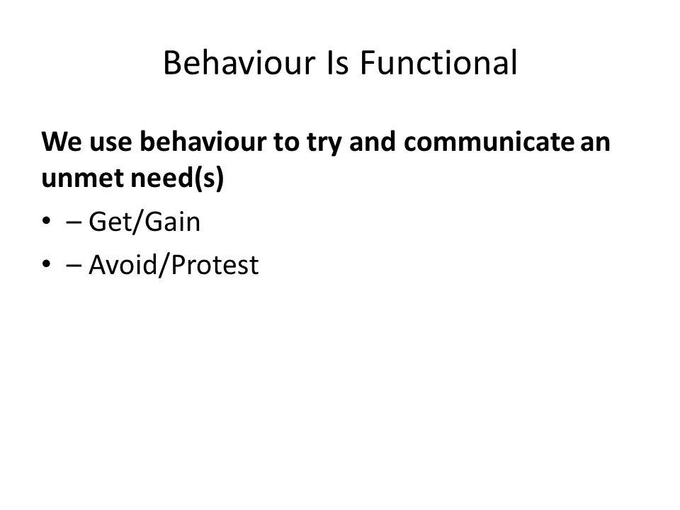 Behaviour Is Functional