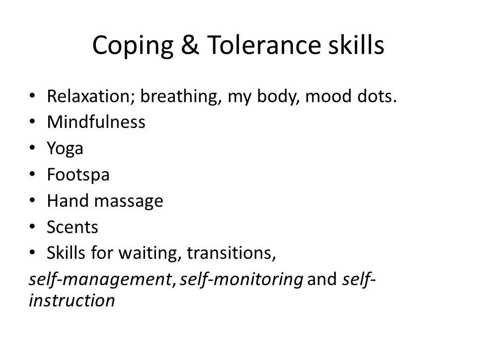 Coping & Tolerance skills