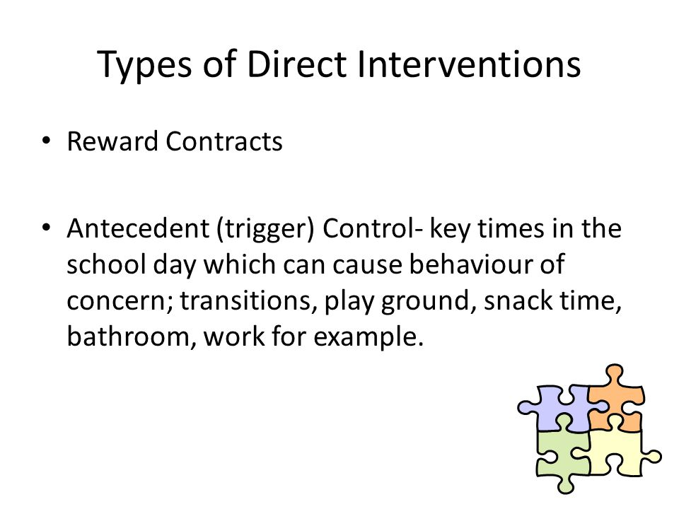 Types of Direct Interventions