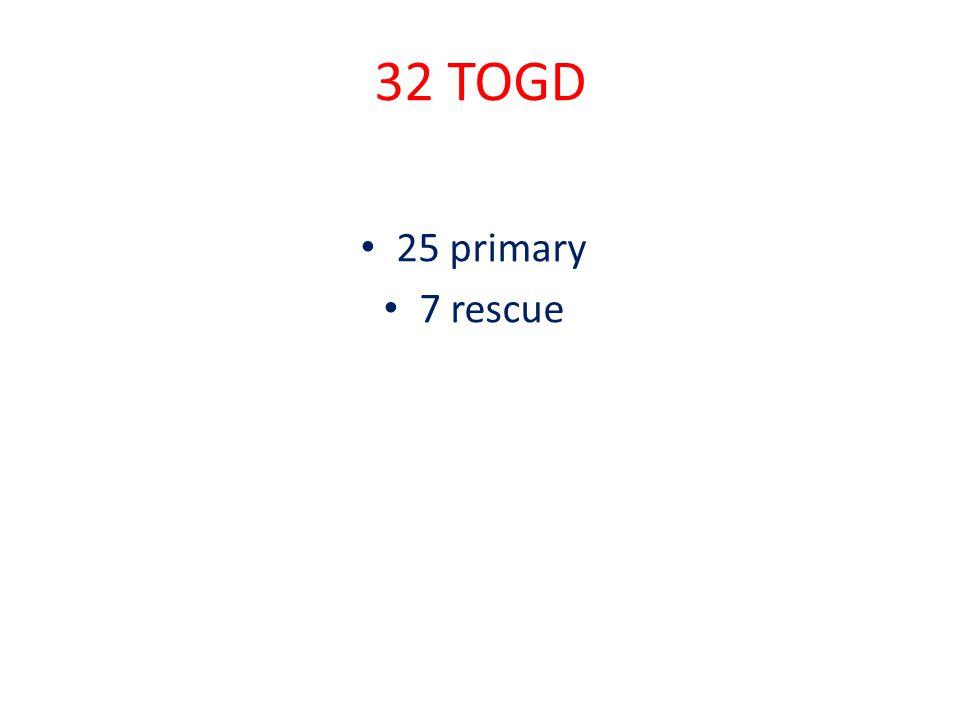 32 TOGD 25 primary 7 rescue