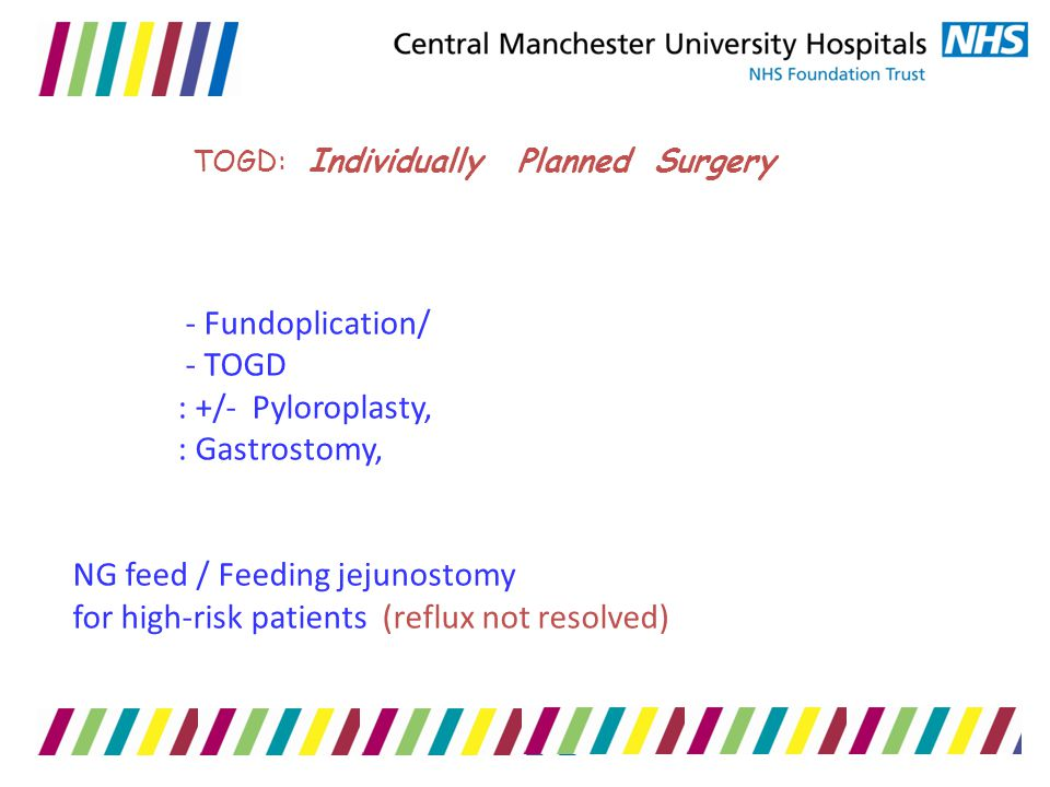 TOGD: Individually Planned Surgery