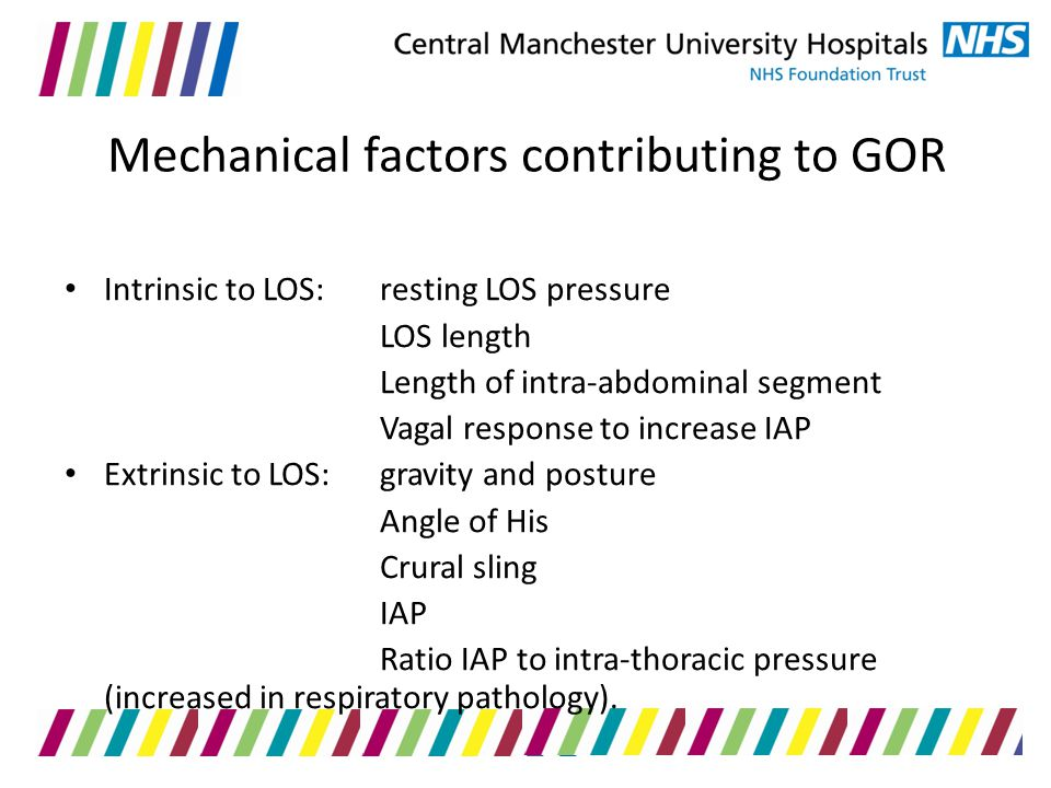 Mechanical factors contributing to GOR