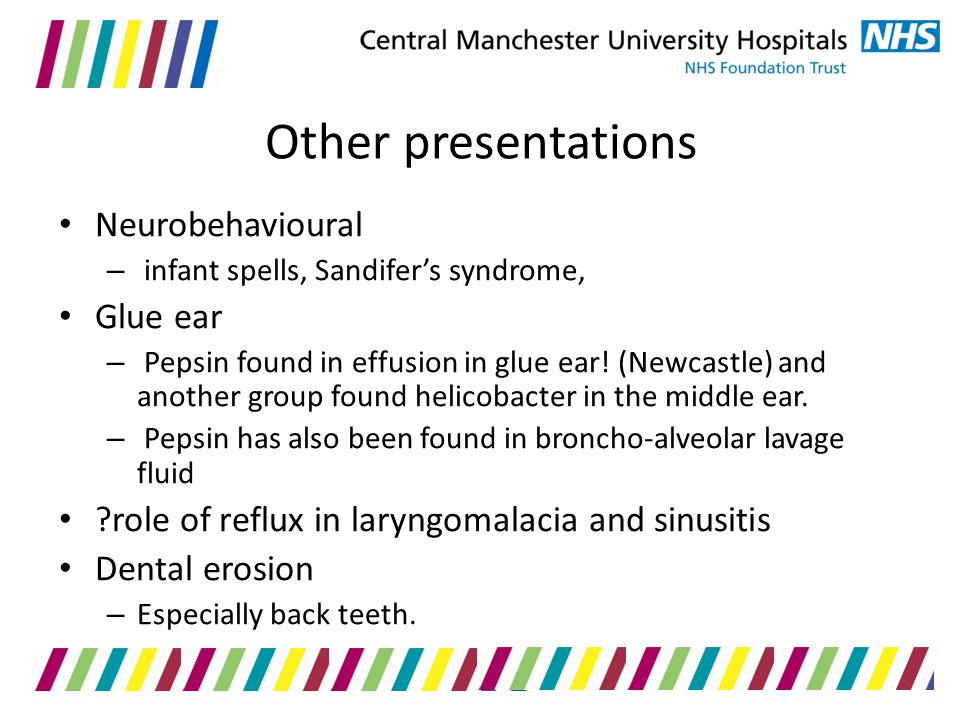 Other presentations Neurobehavioural Glue ear