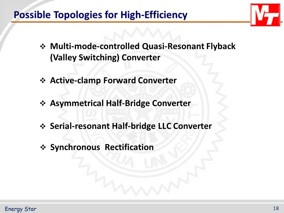 Possible Topologies for High-Efficiency