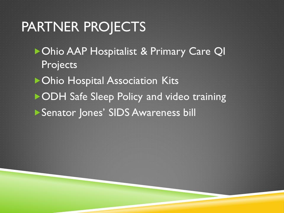 Partner Projects Ohio AAP Hospitalist & Primary Care QI Projects