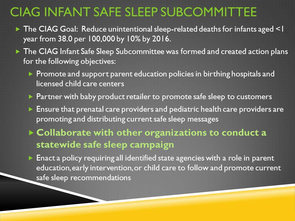 CIAG Infant Safe Sleep Subcommittee