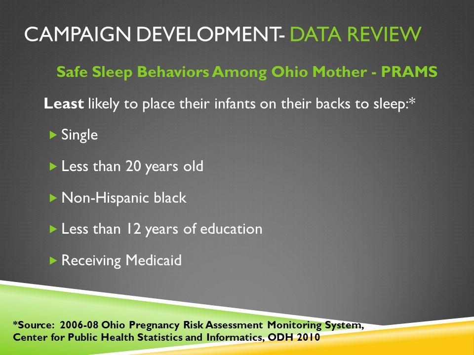 Campaign Development- Data Review