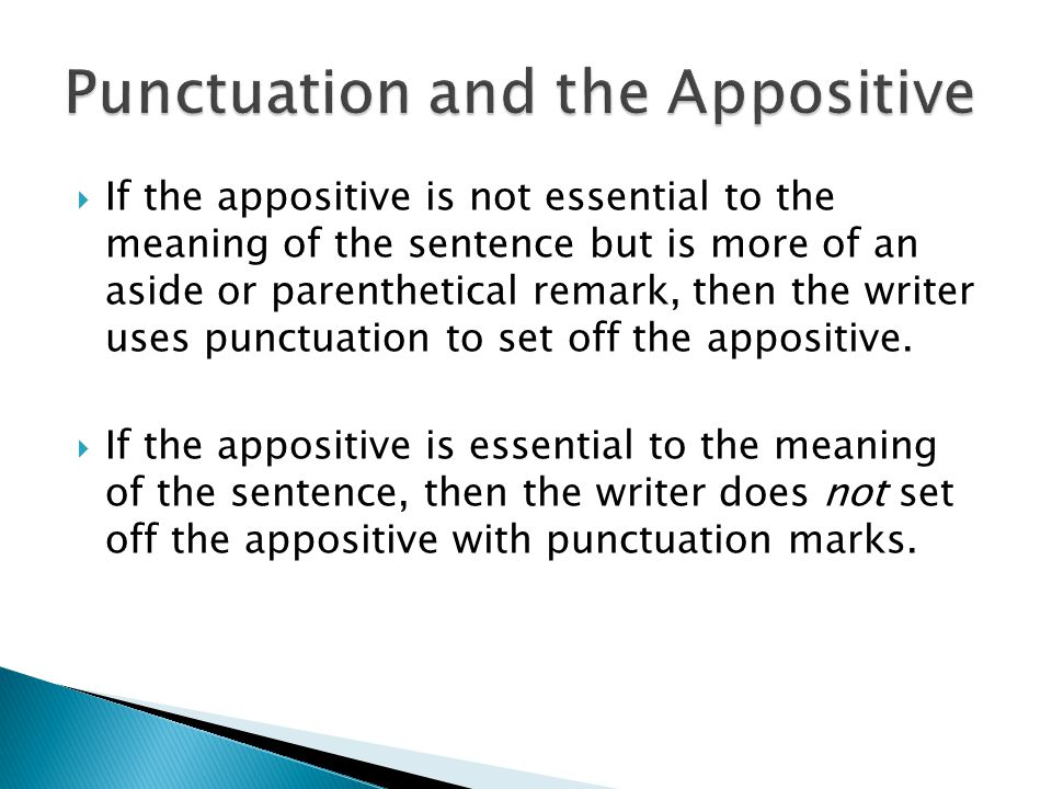 Punctuation and the Appositive