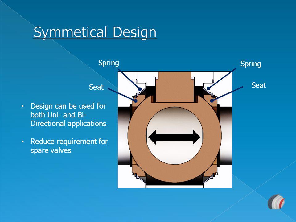 Symmetical Design Spring Spring Seat Seat