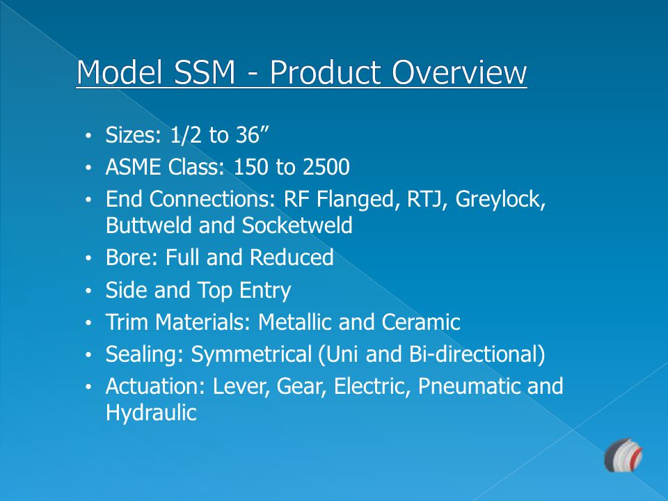 Model SSM - Product Overview