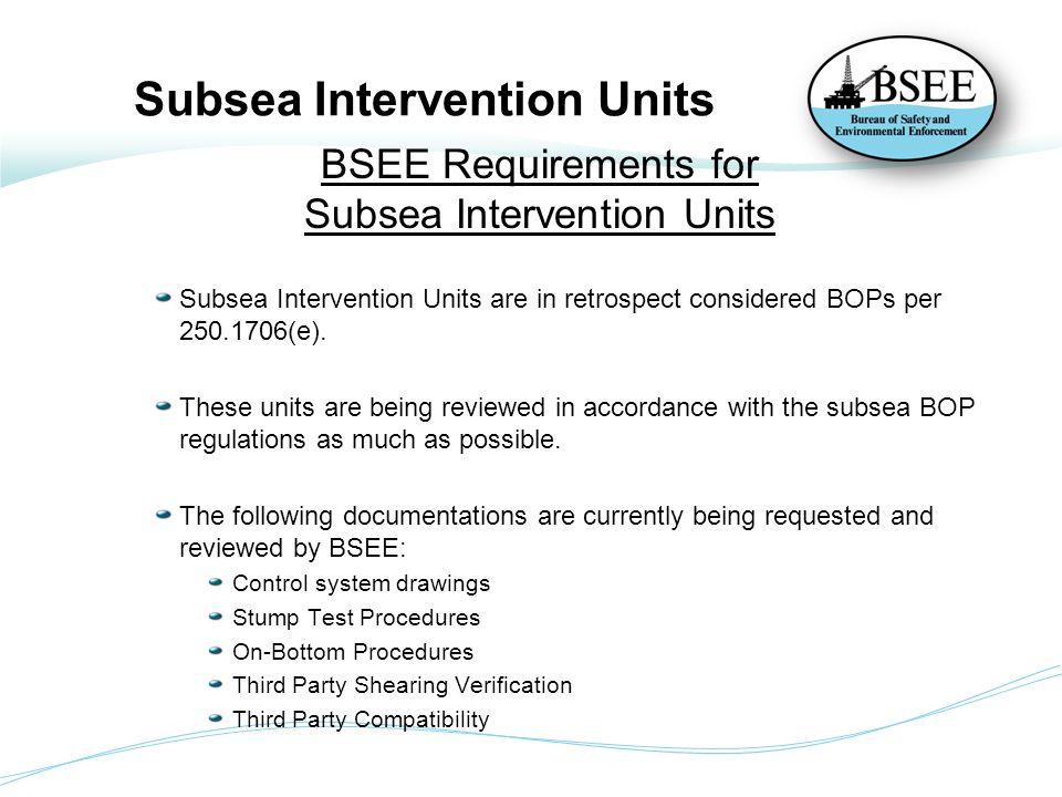 Subsea Intervention Units