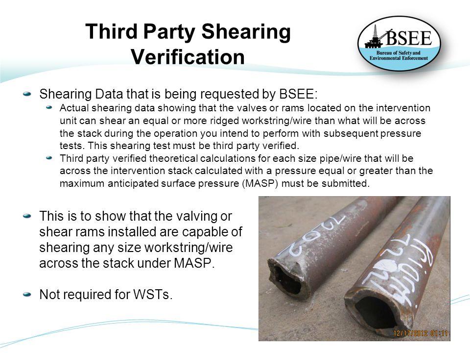 Third Party Shearing Verification