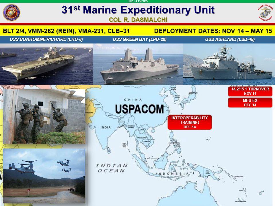31st Marine Expeditionary Unit INTEROPERABILITY TRAININIG