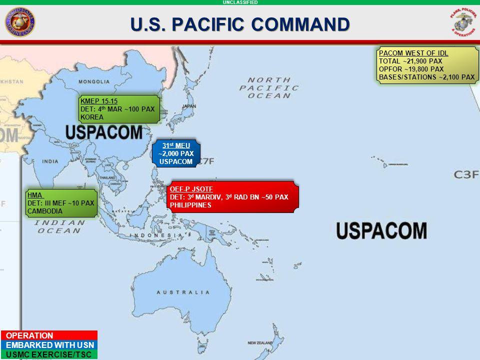 U.S. PACIFIC COMMAND PACOM SLIDE: