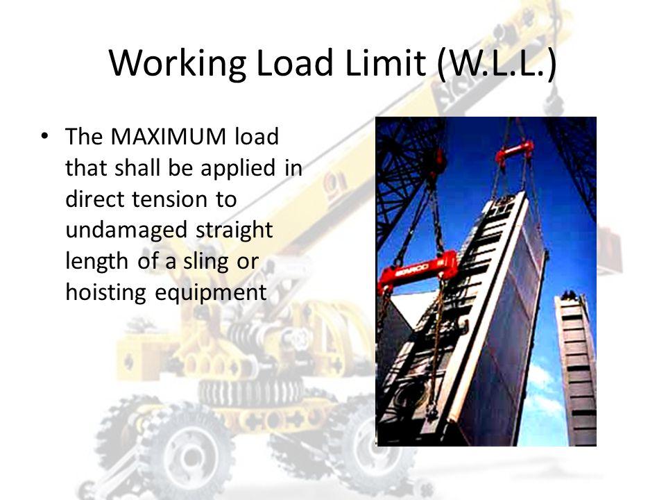Working Load Limit (W.L.L.)