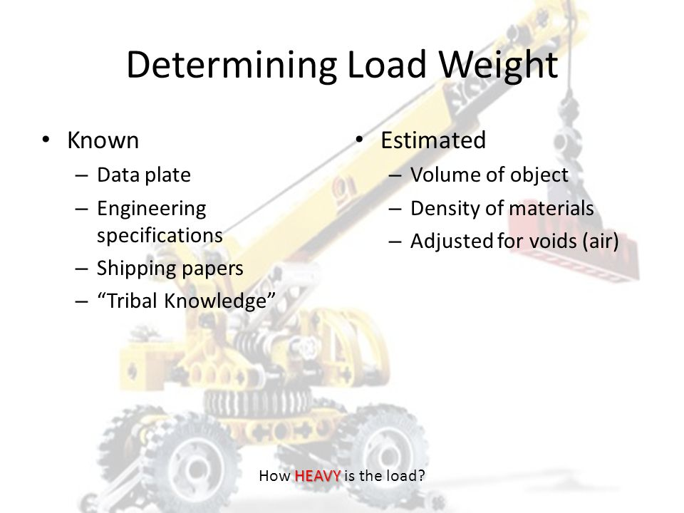 Determining Load Weight