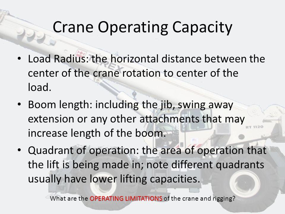 Crane Operating Capacity
