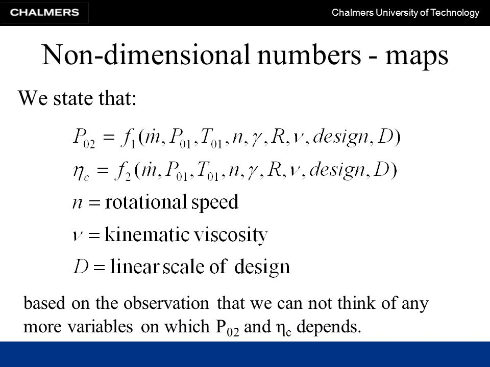 Non-dimensional numbers - maps