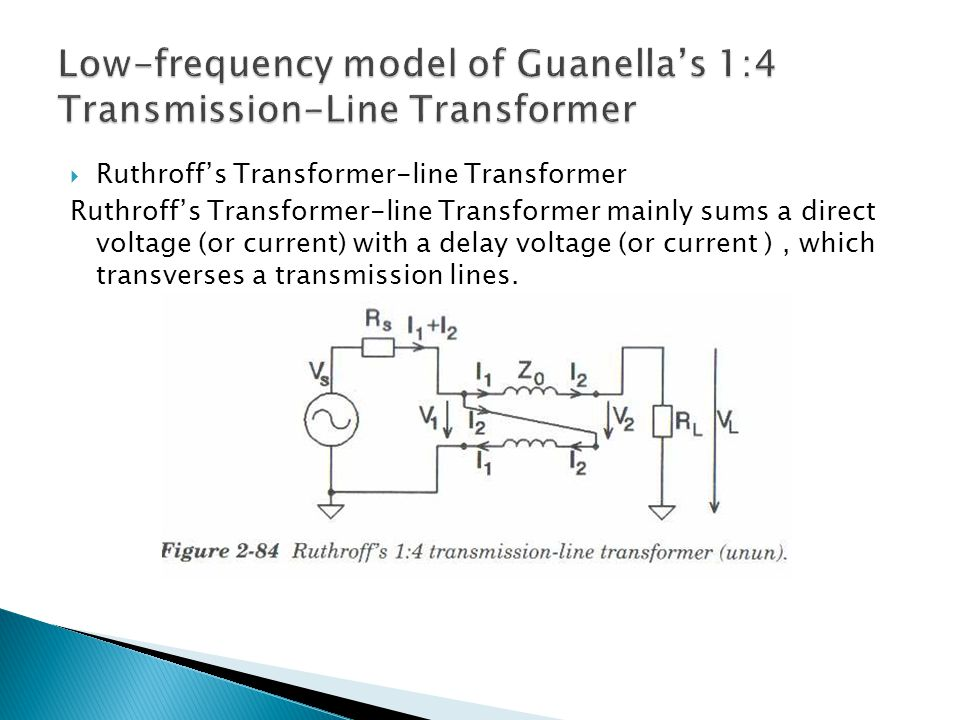 Low-frequency model of Guanella's 1:4 Transmission-Line Transformer