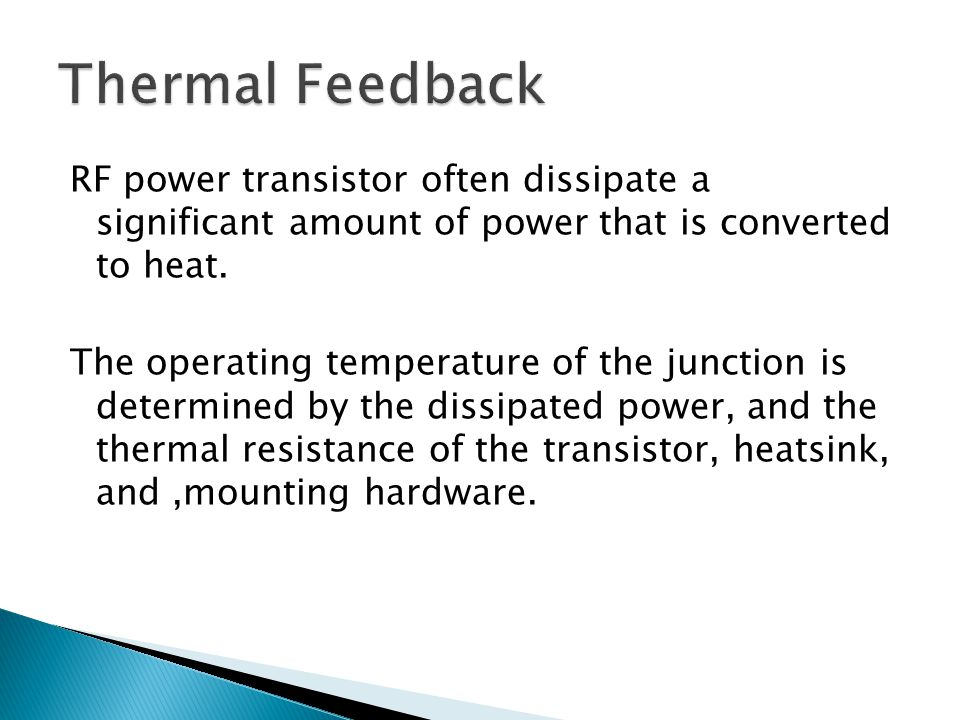 Thermal Feedback