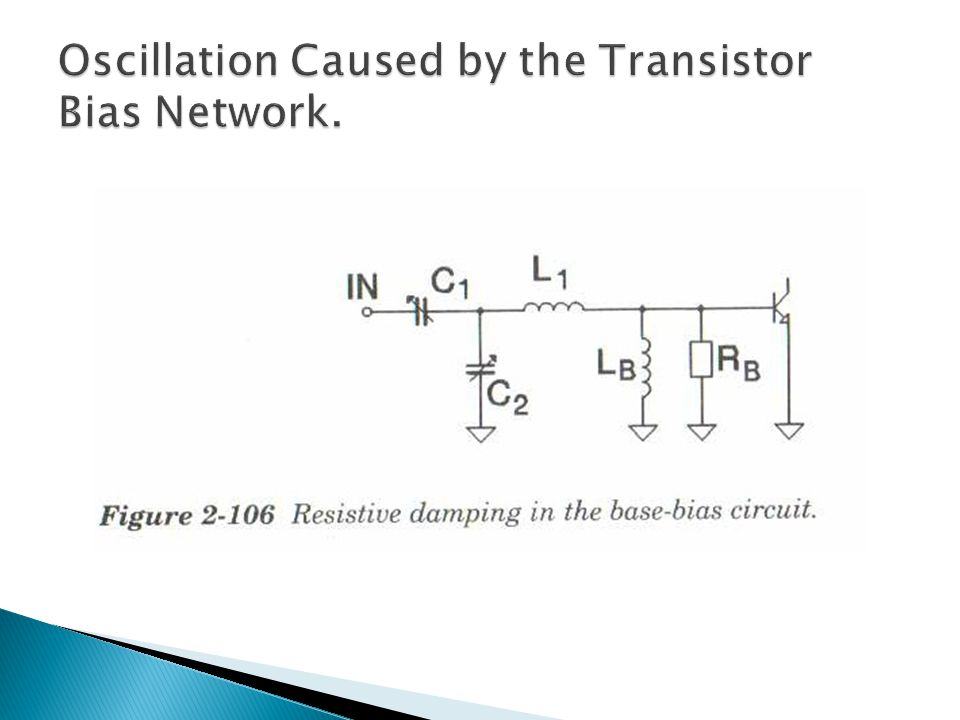 Oscillation Caused by the Transistor Bias Network.