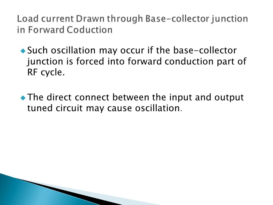 Load current Drawn through Base-collector junction in Forward Coduction
