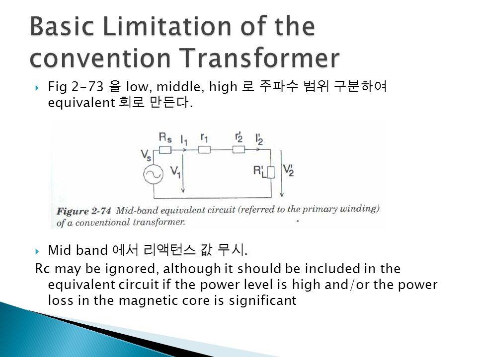 Basic Limitation of the convention Transformer